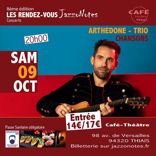 Achetez vos places : Arthedone - Trio - Concert du Samedi 09 Octobre 2021