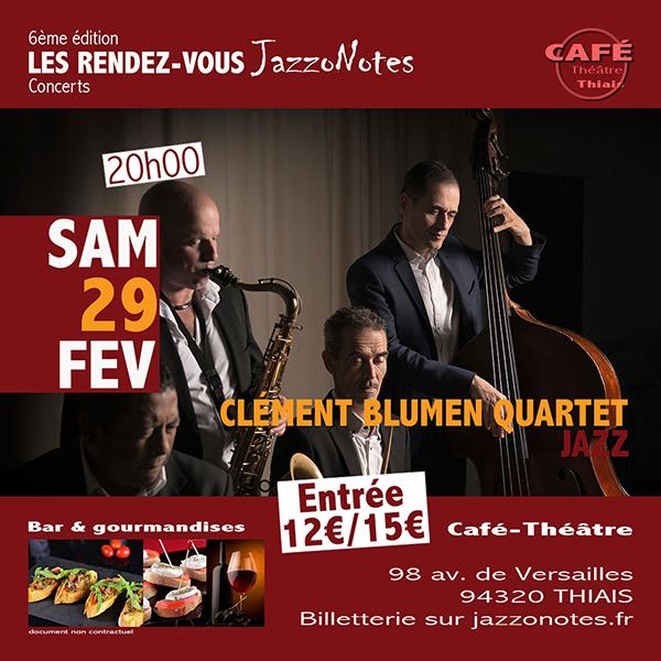 Achetez vos places : Clément Blumen - Concert du Samedi 29 Février 2020
