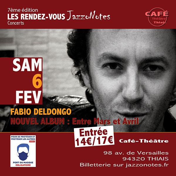 Fabio DelDongo - Concert du Samedi 06 Février 2021
