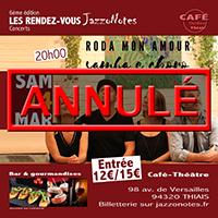 Roda mon amour - Concert du Samedi 14 Mars 2020